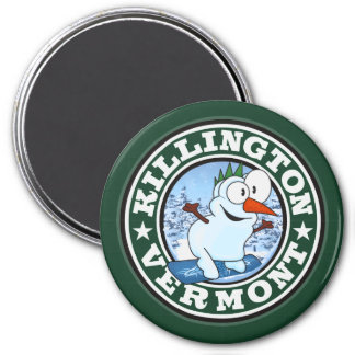 Killington Snowman Circle Magnet