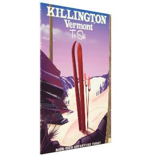 Killington, Vermont Ski travel print. Canvas Print