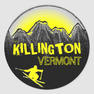 Killington Vermont yellow ski stickers