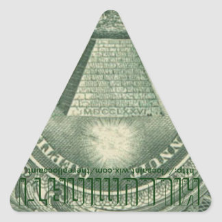 Killuminati Upside Down Triangle Sticker