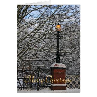 Kiln Bridge lamp Christmas card