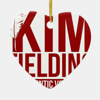 Kim Fielding logo Ceramic Heart Decoration