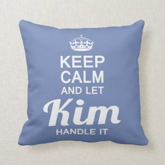 Kim handle it! cushion