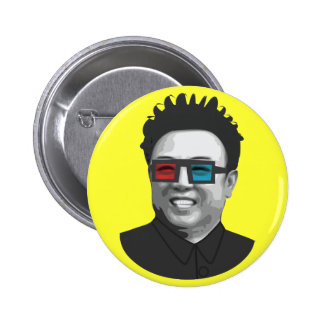 Kim Jong-Il - North Korea 6 Cm Round Badge