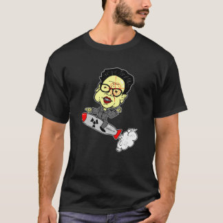 Kim Jong-Il with Gun Site T-Shirt