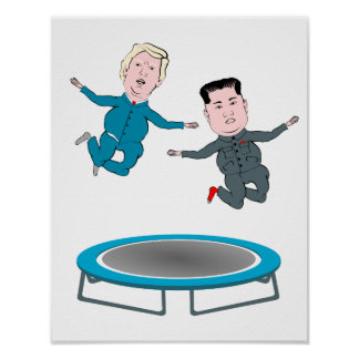 Kim Jong Un and President Trump Poster