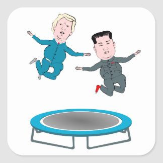 Kim Jong Un and President Trump Square Sticker