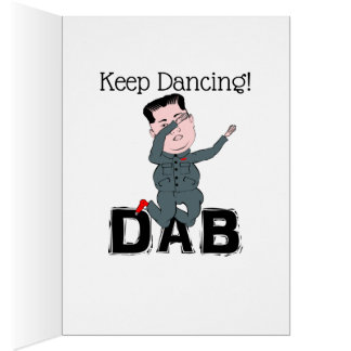 Kim Jong-Un Dabbing Card