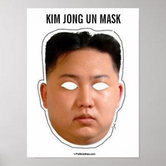 Kim Jong Un Mask Poster