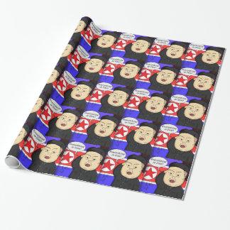 Kim Jong Un, North Korea, Dictator, Korea, Funny, Wrapping Paper