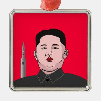 Kim Jong-un & nuclear missile Metal Ornament