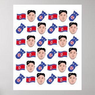 Kim Jong Un Pattern - Poster