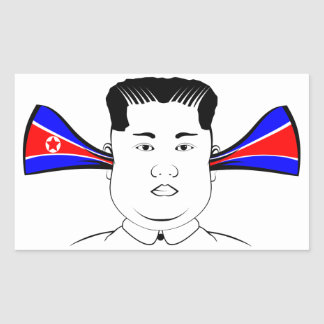 Kim Jong Un Rectangular Sticker