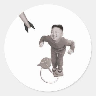 Kim Jong Un - Rocket Man Classic Round Sticker