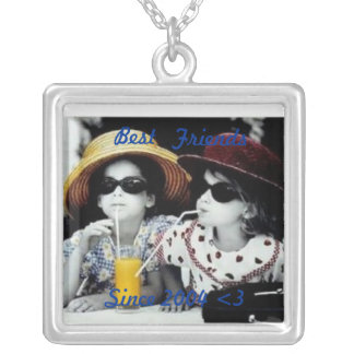 KimAndersonSisters, Best, Friends, Since 2004 <3 Square Pendant Necklace