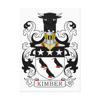 Kimber Coat of Arms Stretched Canvas Print