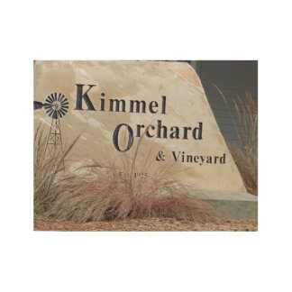 Kimmel Orchards Wood Poster