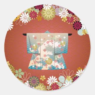 Kimono2 Round Sticker