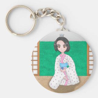 kimono girl keychain