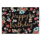 Kimono Print Happy Birthday Card