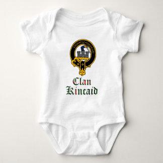 Kincaid scottish crest and tartan clan name baby bodysuit