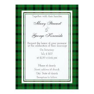 Kincaide Scottish Wedding Invitatio Card
