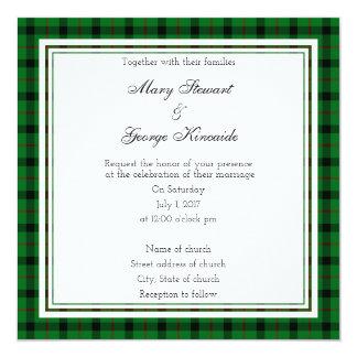 Kincaide Scottish Wedding Square Invitation