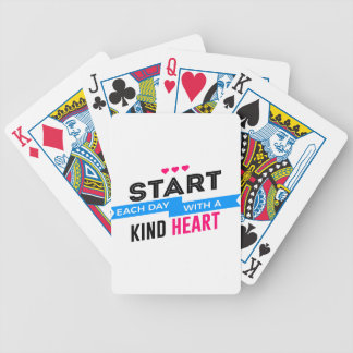 Kind Heart Compassion Humanity Bicycle Playing Cards