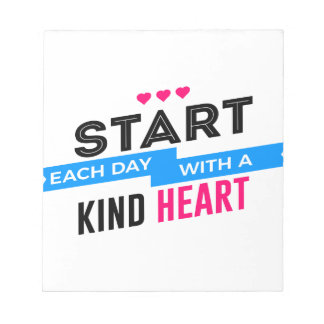 Kind Heart Compassion Humanity Notepad