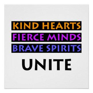 Kind Hearts, Fierce Minds, Brave Spirits Unite Poster
