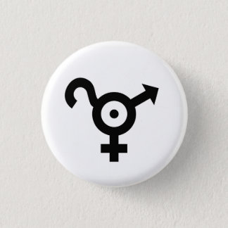 Kind in questioning 3 cm round badge