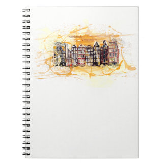 Kind note book. Amsterdam, the Netherlands/Holland Spiral Notebook