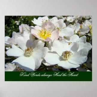 Kind Words always Heal the Heart art prints Roses