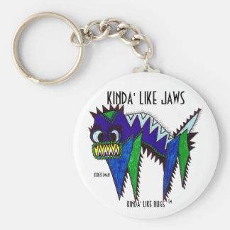 KINDA' LIKE JAWS BASIC ROUND BUTTON KEY RING