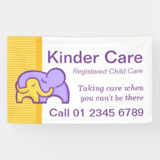 Kinder child care business signage banner