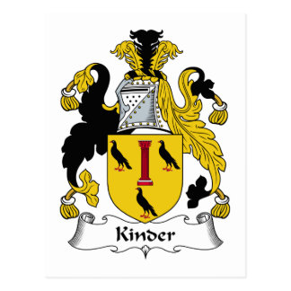 Kinder Family Crest Postcard