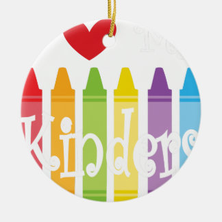 kinder teacher2 ceramic ornament