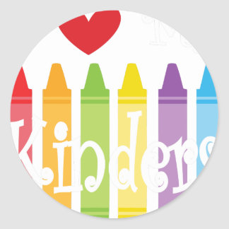 kinder teacher2 classic round sticker