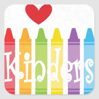 kinder teacher2 square sticker