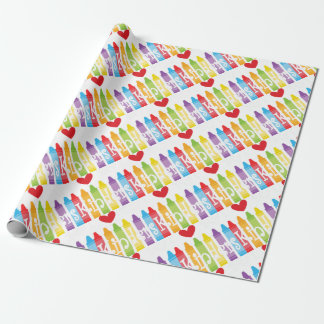 kinder teacher2 wrapping paper