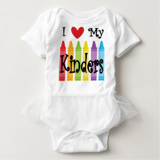 kinder teacher baby bodysuit