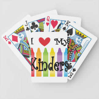 kinder teacher bicycle playing cards