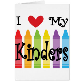 kinder teacher card