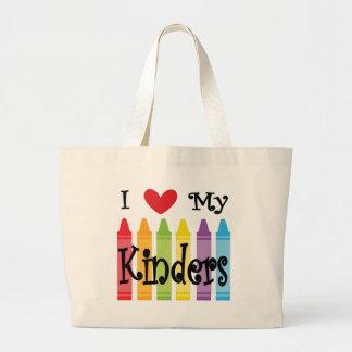 kinder teacher large tote bag