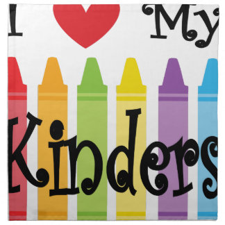 kinder teacher napkin