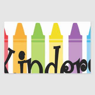 kinder teacher rectangular sticker