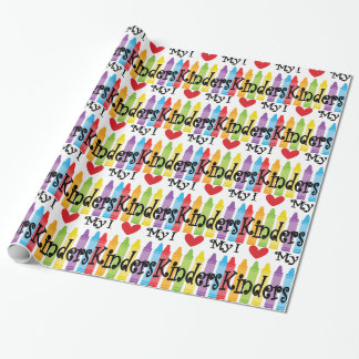 kinder teacher wrapping paper