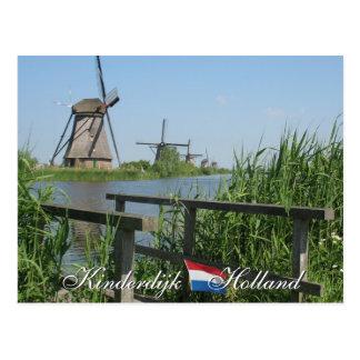 Kinderdijk Windmills Holland Postcard