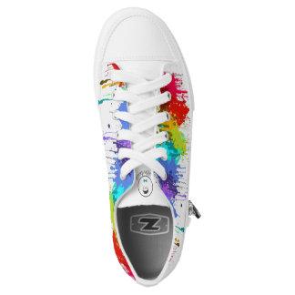 Kinderdykes Rainbow Paint Splatter Low Tops
