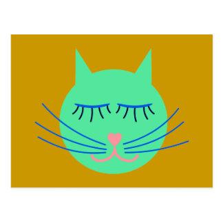 Kindergarten cat cat postcard